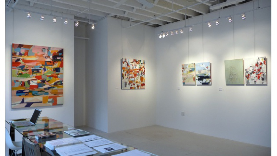 Installation view, Jimmie James: New Paintings at 571 Projects, NYC
