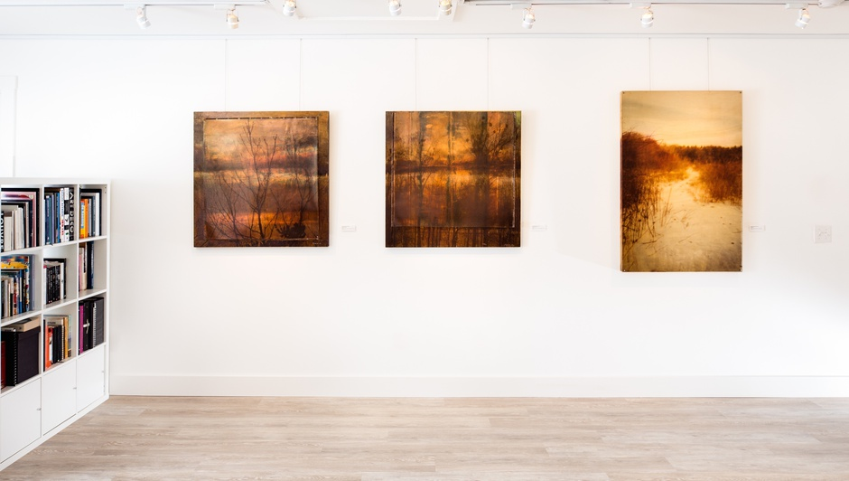 Installation view, Dorothy Simpson Krause: Golden Days at 571 Projects, Stowe VT