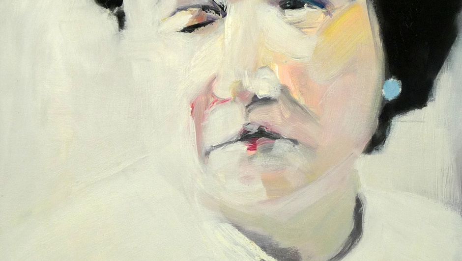 Melora Griffis, sister (detail), 2008, oil on canvas, 33 x 21.5 in.